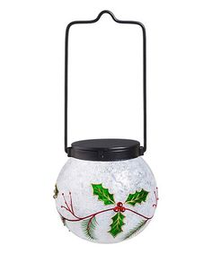 Love this Festive Holly Solar LED Hanging Globe on #zulily! #zulilyfinds