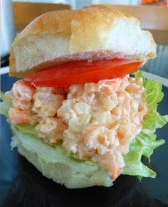 Low Country Shrimp Salad _ Without a doubt Shrimp are probably the most popular & valuable of all seafood. Serve on a Croissant with lettuce & sliced tomato for lunch time flawlessness! Shrimp Salad Recipes, Seafood Salad, Shrimp Dishes, Fish Dishes, Fish And Seafood, Seafood Recipes, Shellfish Recipes, Lunch Recipes, Great Recipes