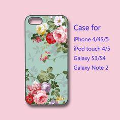flower samsung galaxy S4 case galaxy S3 case galaxy by Colorcases
