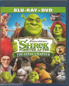 Shrek Forever After (Blu-ray/DVD, 2010, 2-Disc Set, UK) Mike Myers, Antonio Ban