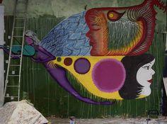 """134 curtidas, 3 comentários - Walter Menezes (@wmarqui) no Instagram: """"São Paulo / muros 8216 Work in progress by Santa Mônica ✖️Ocupação Paulista✖️"""""""