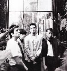 The Smiths at Kew Gardens, London, England (1983).