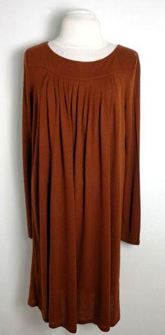 ☆ STRENESSE BLUE Luxus Designer Kleid Tunika Gr. 42 Rostbraun neuwertig ☆