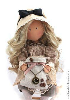Человечки ручной работы. Ярмарка Мастеров - ручная работа текстильная кукла ЖАКЛИН. Handmade.