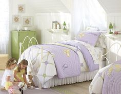 I love the Pottery Barn Kids Lindsey Lavender Butterfly Bedroom on potterybarnkids.com