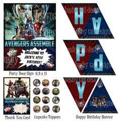 The Avengers Party Kit!    SO COOL!