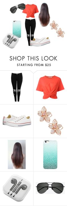"""Summer Time!"" by chloe5sos-ashton on Polyvore featuring Boohoo, T By Alexander Wang, Converse, NAKAMOL, PhunkeeTree and Yves Saint Laurent"