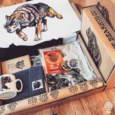 Bear Box - - inc. Print, Tee, Mug, Stickers, Tote & Beanie Printed Bags, Travel Bag, Bear, Stickers, Accessories, Sticker, Bears