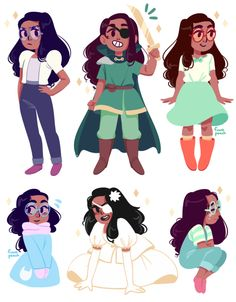 fuwapeach: i really love connie and all of her outfits are A Tags: other_peoples_art steven universe Connie Steven Universe, Perla Steven Universe, Greg Universe, Universe Art, Universe Theories, Connie Stevens, Desenhos Cartoon Network, Fanart, Cosplay