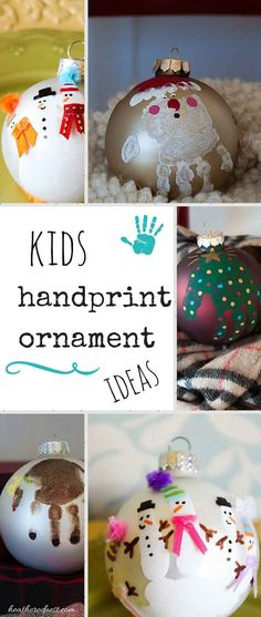 31 Days of Handmade Christmas Ornaments – DIY Kids Handprint Ornaments – Heather… 31 Tage handgemachte Christbaumschmuck – DIY Kinder Handabdruck Ornamente – Heathered Nest Diy Christmas Arts And Crafts, Christmas Decorations For Kids, Preschool Christmas, Diy Christmas Ornaments, Diy Christmas Gifts, Diy Crafts For Kids, Handmade Christmas, Holiday Crafts, Christmas Tree