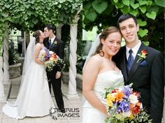 Newlyweds in the Meijer Gardens Victorian Greenhouse. Grand Rapids weddings. Wedding photos [Tiberius Images]