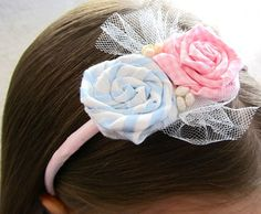 Simple and Cute Scrap Fabric Flower Headband Tutorial