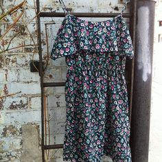 Floral Dress $14 size small  #unit5 #unit5boutique #waterloo #uptownwaterloo #vintage #consignment #floral #fashion