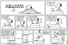 This strip was published on August 9, 1987. Snoopy and Woodstock.