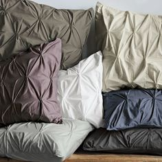 These pintuck duvet covers and pillow shams look like little frosted cakes! I want! Organic Cotton Pintuck Duvet Cover + Shams, West Elm
