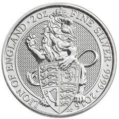 Queens Beast 2016 2 troy ounce zilveren munt