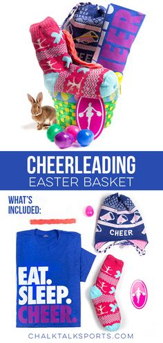 Surprise a favorite athlete with a great Easter basket filled with great ChalkTalkSPORTS gifts, such as tees, bags, jewelry and waterbottles! Cheerleading Gifts, Easter Gift Baskets, Sugar Free, Gift Ideas, Holidays, London, Diy, Big Ben London, Bricolage