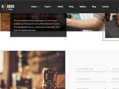 The Barber Shop is a #HTML #Template design which is suitable as it is for professional barber sites, hair salon or barber shop sites