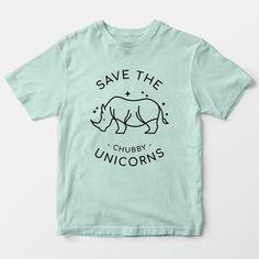 Save The Chubby Unicorn - Vegan Kids Shirt – Vegan Outfitters Unicorn Kids, Vegan Clothing, Unicorn Shirt, Kids Shirts, Little Ones, Baby Kids, Kids Outfits, Unisex, Mens Tops
