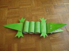Krokodil av toarullar