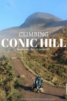 Climbing Conic Hill in Balmaha, Loch Lomond. & Trossachs National Park