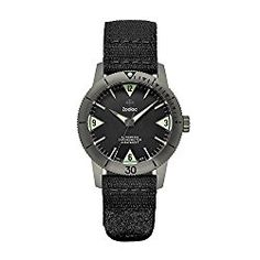 Zodiac Men's 'Super Seawolf' Swiss Automatic Stainless Steel and Canvas Casual Watch, Color:Black (Model: ZO9205)