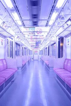 skeletonkeytomyheart: ☯ Soft Grunge // Pastel Goth ☾ // abandoned train abandoned subway with neon light Lavender Aesthetic, Aesthetic Colors, Aesthetic Pictures, 90s Aesthetic, Aesthetic Pastel, Aesthetic Grunge Tumblr, Knife Aesthetic, Violet Aesthetic, Aesthetic Japan