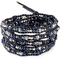 Chan Luu Beaded Wrap Bracelet ($230) ❤ liked on Polyvore featuring jewelry, bracelets, beading jewelry, chan luu, wrap bracelet, beaded bangles and chan luu jewelry