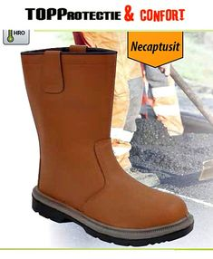 Cizma Steelite S1P HRO, necaptusita, din piele de bivol Rubber Rain Boots, Shoes, Fashion, Moda, Zapatos, Shoes Outlet, Fashion Styles, Fasion, Footwear