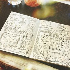 Now there's an idea—post-printing photobook doodle-embellishment. We like it! via Katie Daisy's sketchbook Instagram