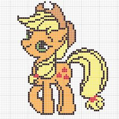 MLP Applejack pattern by Sailor-Phantom on deviantart