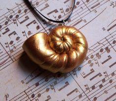 Ursula Inspired Golden Spiral Shell Pendant by MidnightMoxie Shell Pendant, Pendant Necklace, Seashell Necklace, Pendant Jewelry, Jewelry Necklaces, Villain Costumes, Disney Aesthetic, Modern Disney, Disney Villains