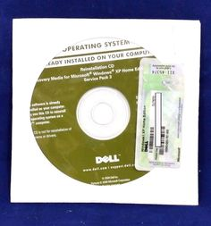 Windows XP Home SP3 CD w/ COA Product Key and OEM RAM