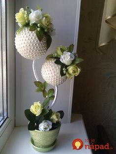 1 million+ Stunning Free Images to Use Anywhere Blush Flowers, Diy Flowers, Paper Flowers, Topiary Centerpieces, Wedding Centerpieces, Flower Ball, Flower Pots, Diy Arts And Crafts, Diy Crafts