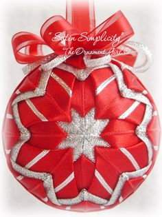 Love these quilted ornaments!