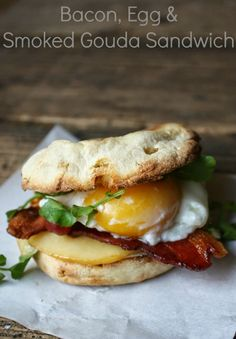 We love breakfast around here. We especially love having breakfast for dinner. This breakfast sandwich is worthy of starring as the main course ...