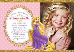 Hey i found this really awesome etsy listing at httpsetsy rapunzel invitation princess rapunzel invite rapunzel birthday invitation rapunzel birthday party rapunzel thank you filmwisefo Images