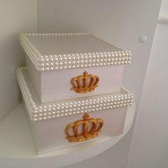 Caixas organizadoras para o quarto de uma princesa. #decor #decoração #decoraçãoquarto #quartomenina #caixa #caixaorganizadora #artesedons