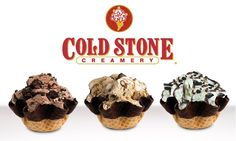 A trio of delicious Cold Stone Creations: Chocolate Devotion, Coffee Lovers Only & Mint Mint Chocolate Chip #icecream #delicious #coldstone