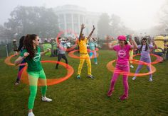 Foggy morning at Easter Egg Roll in 2015.