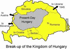 The breakup of Hungary after World War - World History, World War, Family History, United Nations Peacekeeping, World Thinking Day, Hungarian Embroidery, Good Old Times, History Classroom, Austro Hungarian
