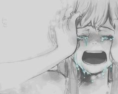 I like the emotion and the everything gray but the tears are blue really shows how sad this anime really is but I like it. not in a mean way or anything. Let's see how many repost and likes we can get on this if u love anime or art REPIN AND LIKE!