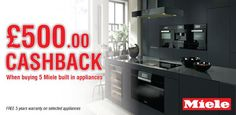 Miele -£500 cashback with Miele built-in appliances