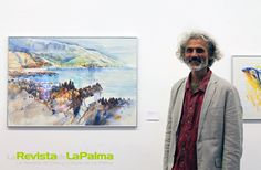 El diseñador y artista alemán, Michael Worm, que vive desde hace 6 años en La Palma mostró por la primera vez una reflexión pictórica de la isla