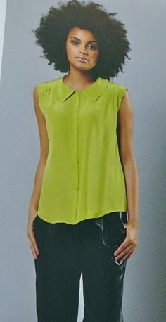 Free PDF pattern, GBSB Sleeveless collar blouse