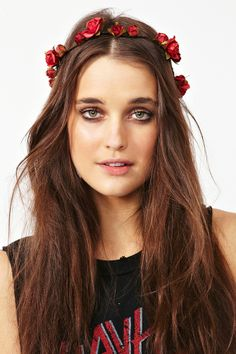Mulberry Rose Crown - Red
