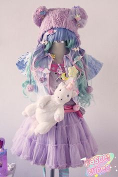Awesome fairy-Kei coord! ♡ ♥ ロリータ, Deco Lolita, Loli, Fairy Kei, Pastel, Kawaii Fashion, Cute, Sweet Lolita, Pop Kei ♥ ♡