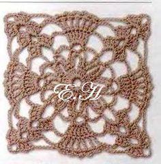 Cuadraditos Crochet - Gabriela de Coronel - Álbuns da web do Picasa