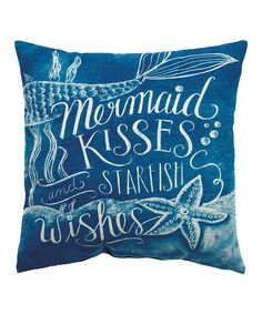 Look at this 'Mermaid Kisses' Throw Pillow on #zulily today!