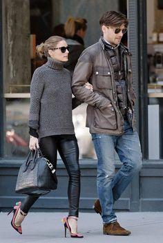 World's Most Stylish Couple 230 Olivia Palermo & Johannes Huebl Mode Outfits, Fall Outfits, Casual Outfits, Fashion Outfits, Fashion Couple, Look Fashion, Milan Fashion, Street Fashion, Fashion Details